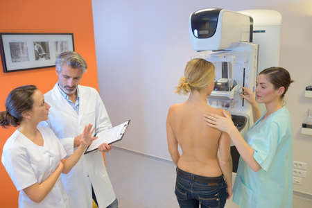 the mammogram procedure Stock Photo