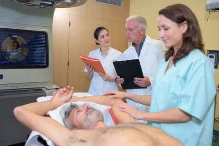 reassure: patient having a scan