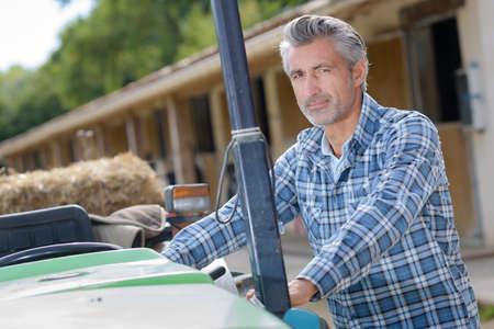 farmer posing outdoors