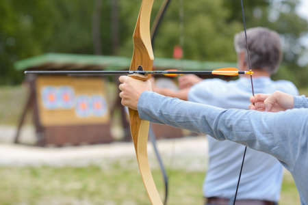 the archery competition Stock Photo
