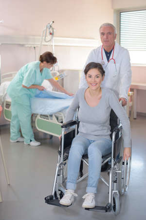 healing process: discharge from the hospital Stock Photo
