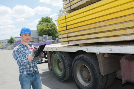 material: material mover clerk Stock Photo