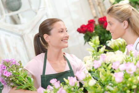 conservatory: Florist stood with a customer
