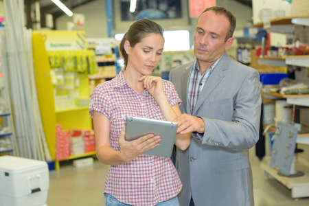 order delivery: shop supervisor and a customer