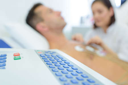 cardiovascular examination on progress
