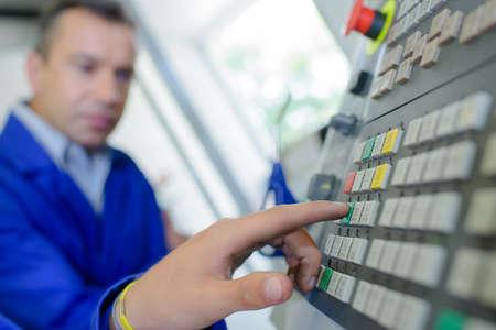 computerised: Finger on control pad
