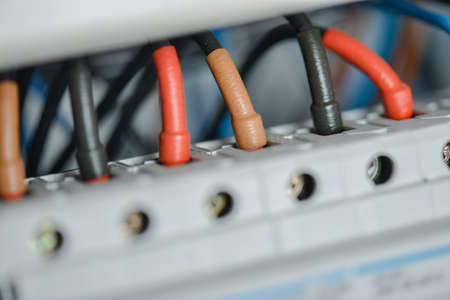 fusebox: Repairing a fusebox Stock Photo