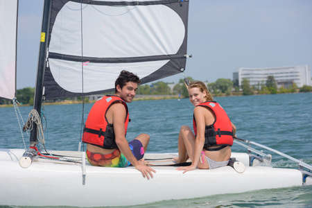 buoyancy: posing on the sailboat
