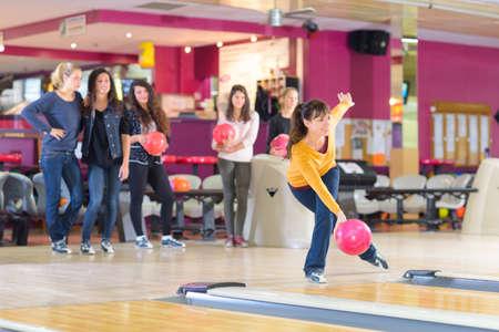 richtige Haltung auf Bowling