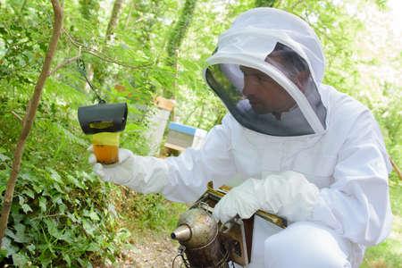 Beekeeper holding equipment