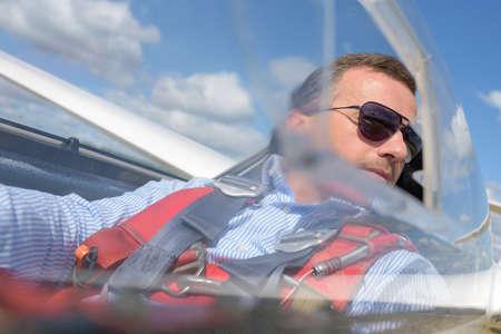 cinturon seguridad: observando desde el cielo Foto de archivo