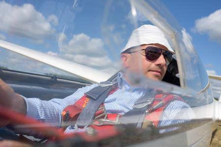 pilot in glider