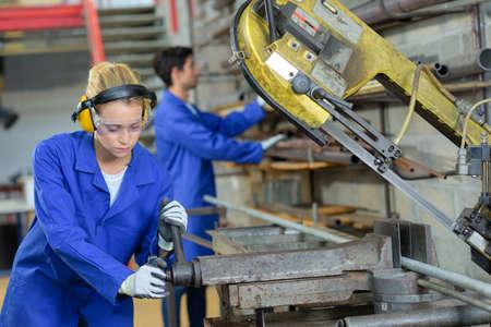 vision repair: woman machine technician