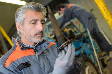 maquinaria: Mecánico, mirar, parte Foto de archivo