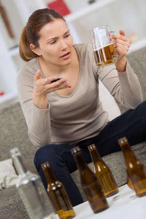 demasiado alcohol Foto de archivo