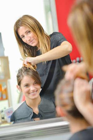 snip: woman at haidresser?A?s Stock Photo