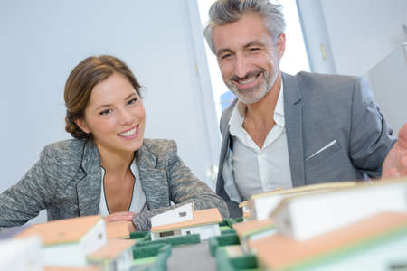 resell: housing plan in progress Stock Photo