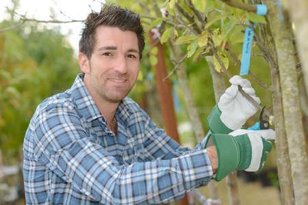 Portrait of male gardener