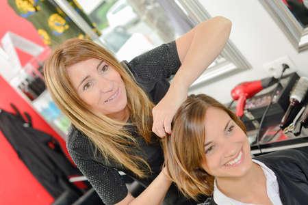 friends in the salon