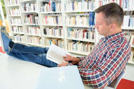 book collector reading Stock Photo
