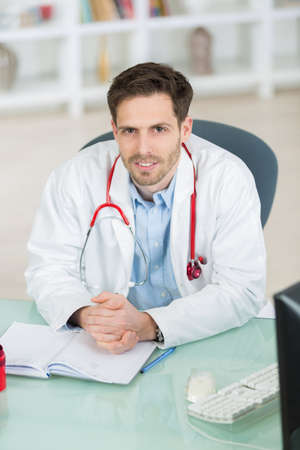 portrait of smiling young male doctor Stock Photo