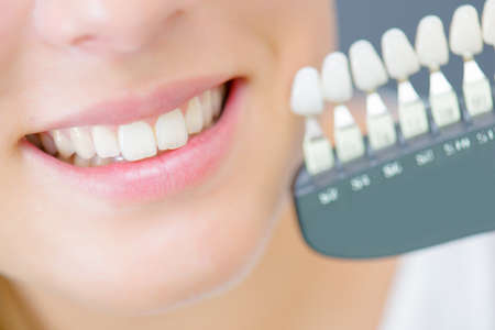 artificial teeth Stock Photo
