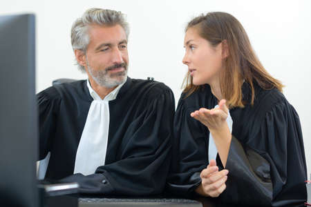allegation: the topic of the lawyers Stock Photo