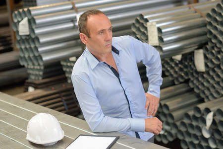 business funds: manager having a deep thought Stock Photo