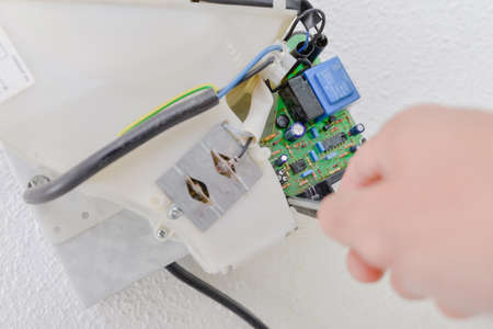 derivation: close-up electrician Stock Photo