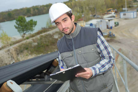 worker in an outdoor site Stock Photo