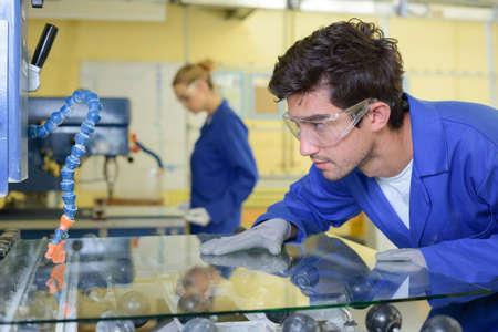 inside a glass factory