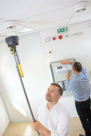 testing the smoke detector