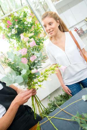 customer in flowershop