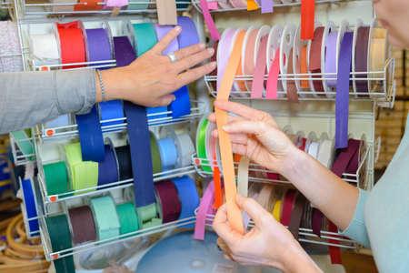 Closeup of display of ribbons