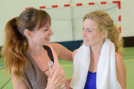 advise: girls practicing sport
