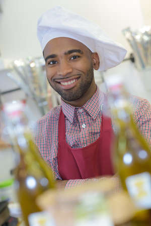 family owned: portrait male chef