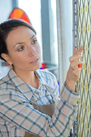 inspecting a glass design