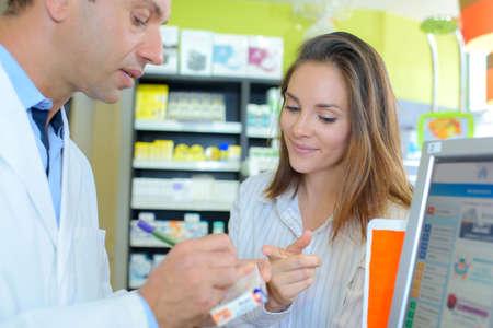 writing the dosage Stock Photo