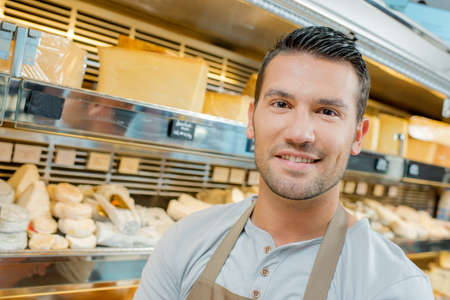 culinary tourism: Cheese monger Stock Photo