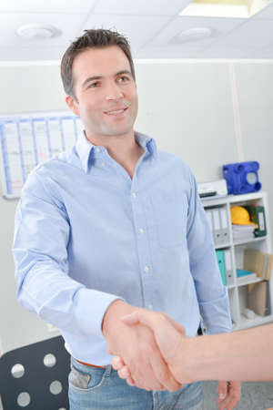 suave: man shaking hands