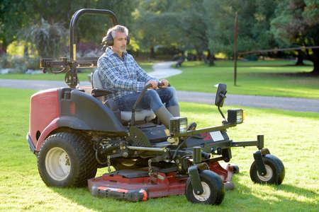 Grounds maintenance man