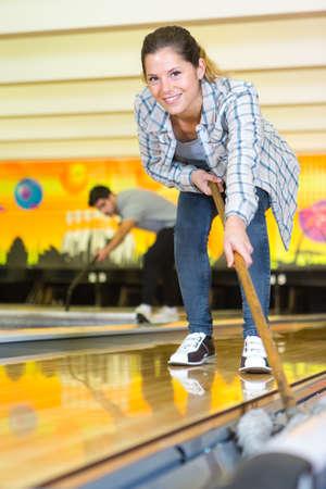 inside shuts of the bowling center 版權商用圖片