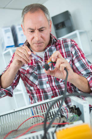 appliance: Appliance electrical defect Stock Photo