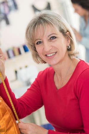 woman in haberdashery store