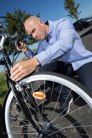 ouside: preparing a bike