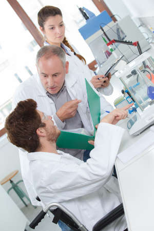 medical laboratory: making a big mistake in the lab