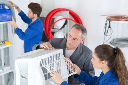 appliance: the appliance assembler Stock Photo
