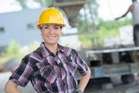 travailleur de la construction femme