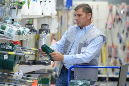 Man stocking shelves