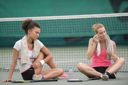 interruption: interruption during the tennis game Stock Photo
